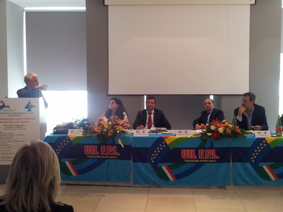 Antonio Pagliuca rieletto segretario della Uil Fpl di Benevento