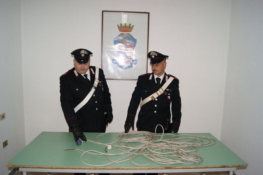 Allaccio elettrico abusivo, i carabinieri denunciano tre persone ad Apice