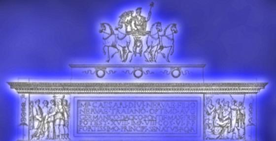 Arco di Traiano, Isidea: ricreare quadriga e statue con ologrammi e luci