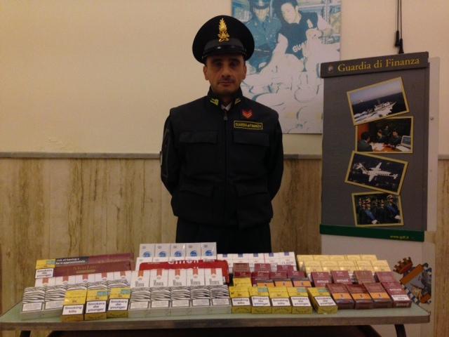 Le Fiamme Gialle sequestrano tre chili di sigarette di contrabbando