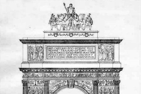 Quadriga scomparsa dell'Arco di Traiano, il convegno di Isidea