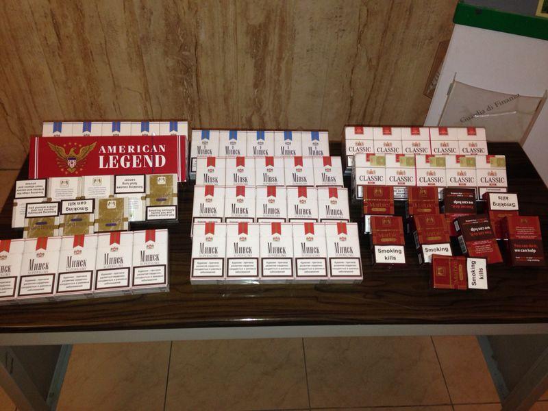 Contrabbando, le fiamme gialle sequestrano 410 pacchetti di sigarette