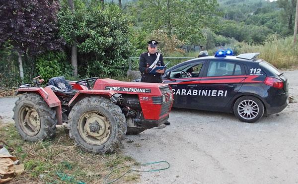 I carabinieri di Montesarchio ritrovano un trattore rubato