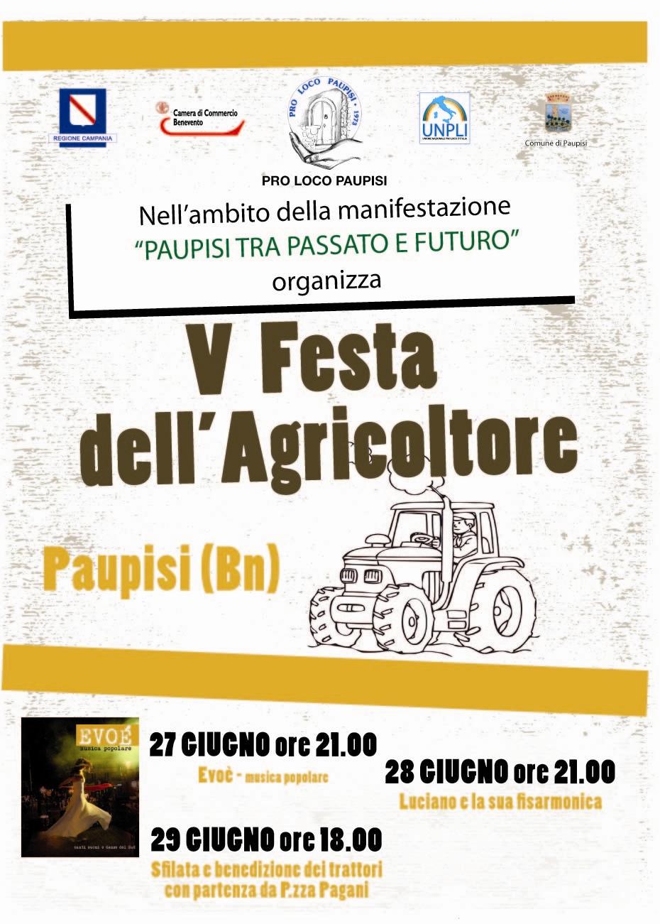 Al via stasera la quinta Festa dell'agricoltore a Paupisi