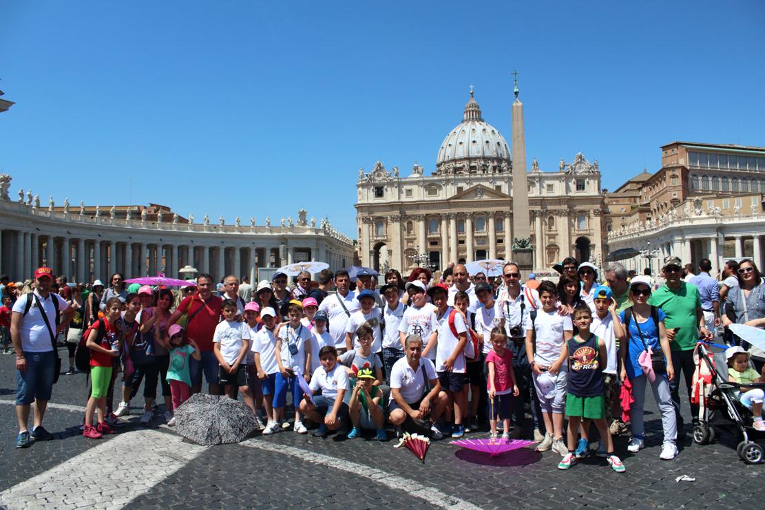C'era anche l'Atletico Foglianise all'incontro di Papa Francesco con gli sportivi