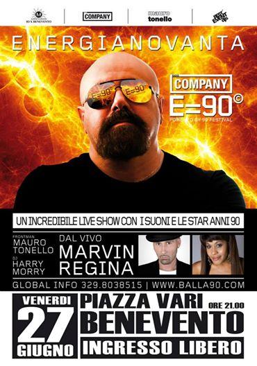 Il tour 'Energia 90' di Radio Company per la prima volta a Benevento il 27 giugno
