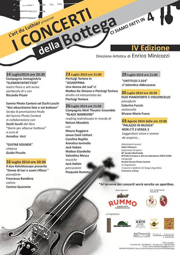 'I concerti della Bottega', torna la rassegna musicale a Palazzo Fusco Rossi