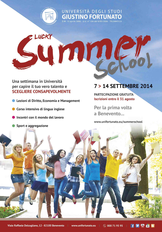 Dal 7 al 14 settembre il 'Lucky Summer School' all'Unifortunato