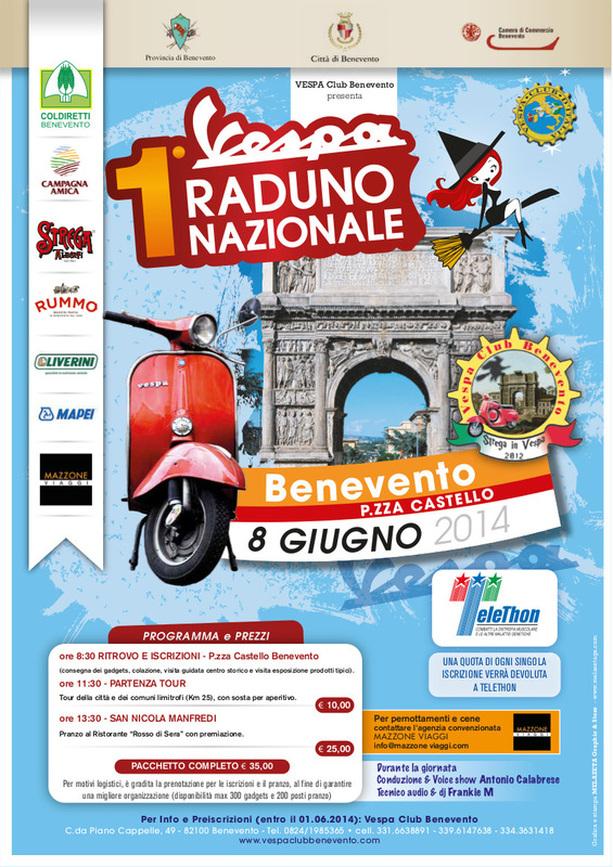 Strega in Vespa, l'8 giugno il primo raduno nazionale in piazza Castello