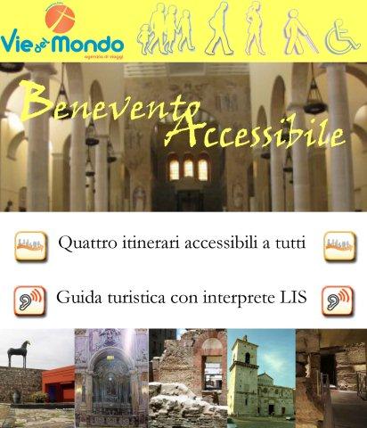Percorsi turistici privi di barriere architettoniche, questa l'iniziativa di 'Benevento Accessibile'