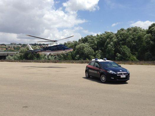 Contrasto alla coltivazione di marijuana, usato anche un elicottero dei Carabinieri di Pontecagnano