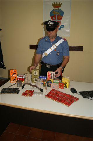 Denunciato operaio di Solopaca per detenzione illegale di munizioni