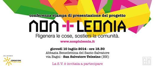 Il progetto 'Non più Leonia' su riuso e riciclo presentato il 10 luglio a San Salvatore Telesino