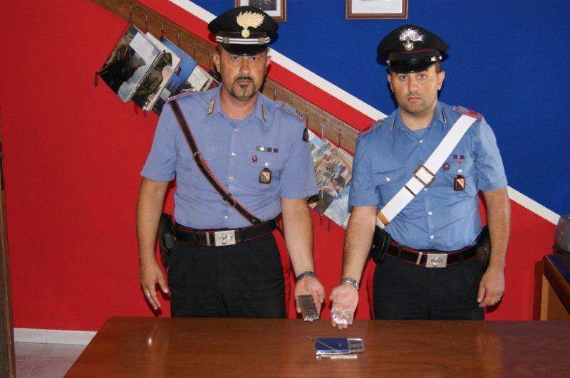 Arrestato per detenzione di droga con finalità di spaccio un giovane di Cautano