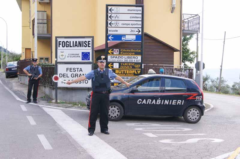 A Foglianise controlli dei Carabinieri e dei Nas in un bar, una pizzeria e una trattoria