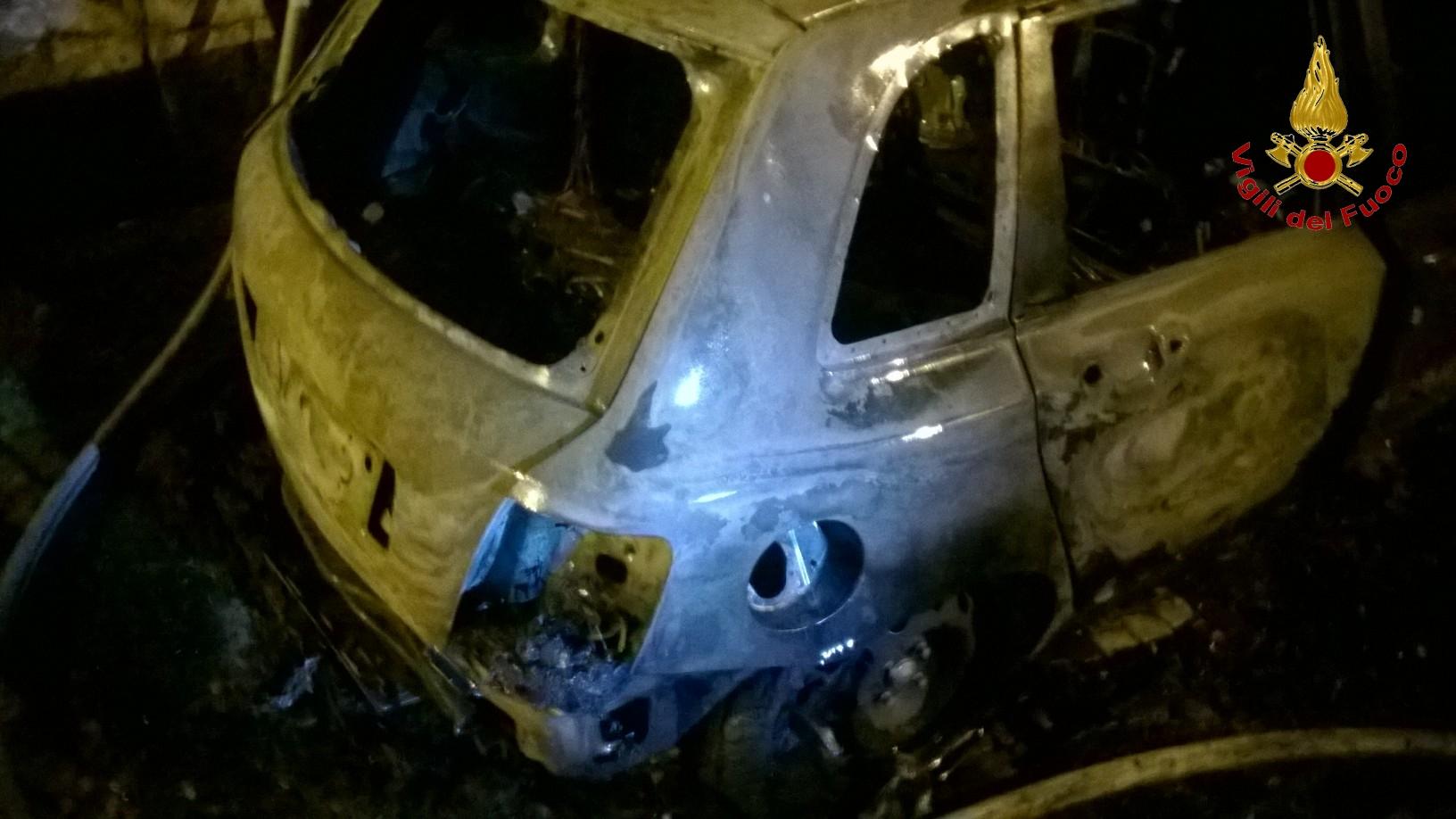 Bonea, incendiata auto nella notte. Indagini ancora in corso