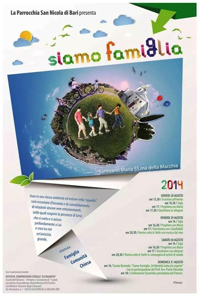 Buonalbergo, dal 28 al 31 agosto la manifestazione 'Siamo famiglia'