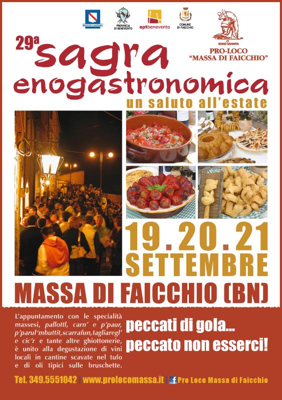 A Massa di Faicchio da domani sono di scena le specialità massesi con la sagra enogastronomica
