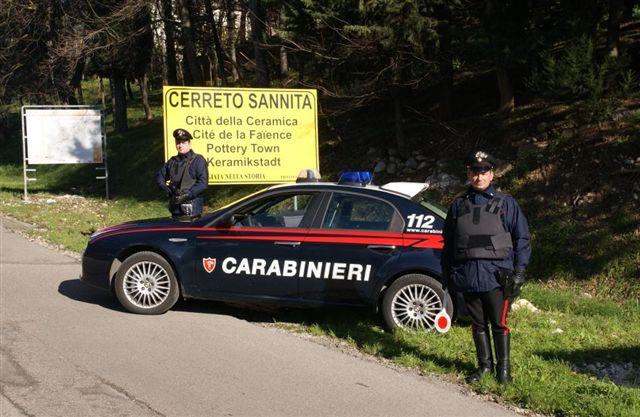 Controllo straordinario del territorio in valle telesina, recuperata auto rubata a San Lorenzello