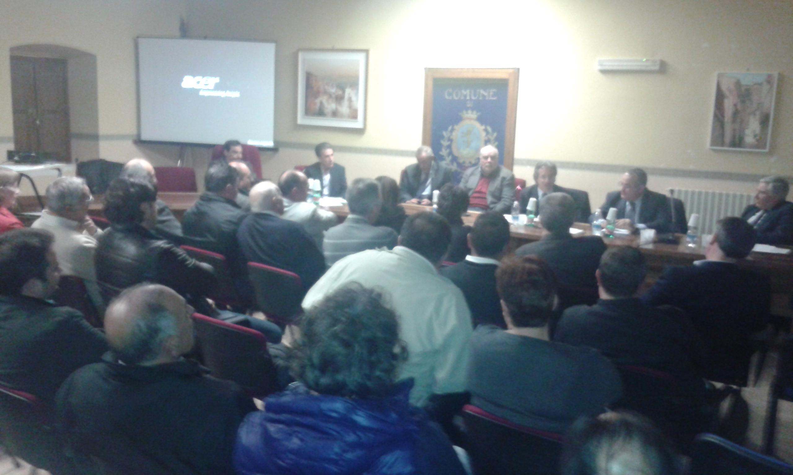 Politica urbanistica, incontro di Ricci con i sindaci del comprensorio