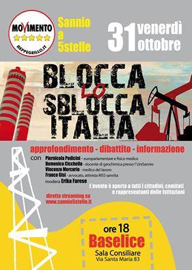 Baselice, convegno sul tema 'I progetti di ricerca idrocarburi alla luce del Decreto Sblocca Italia'