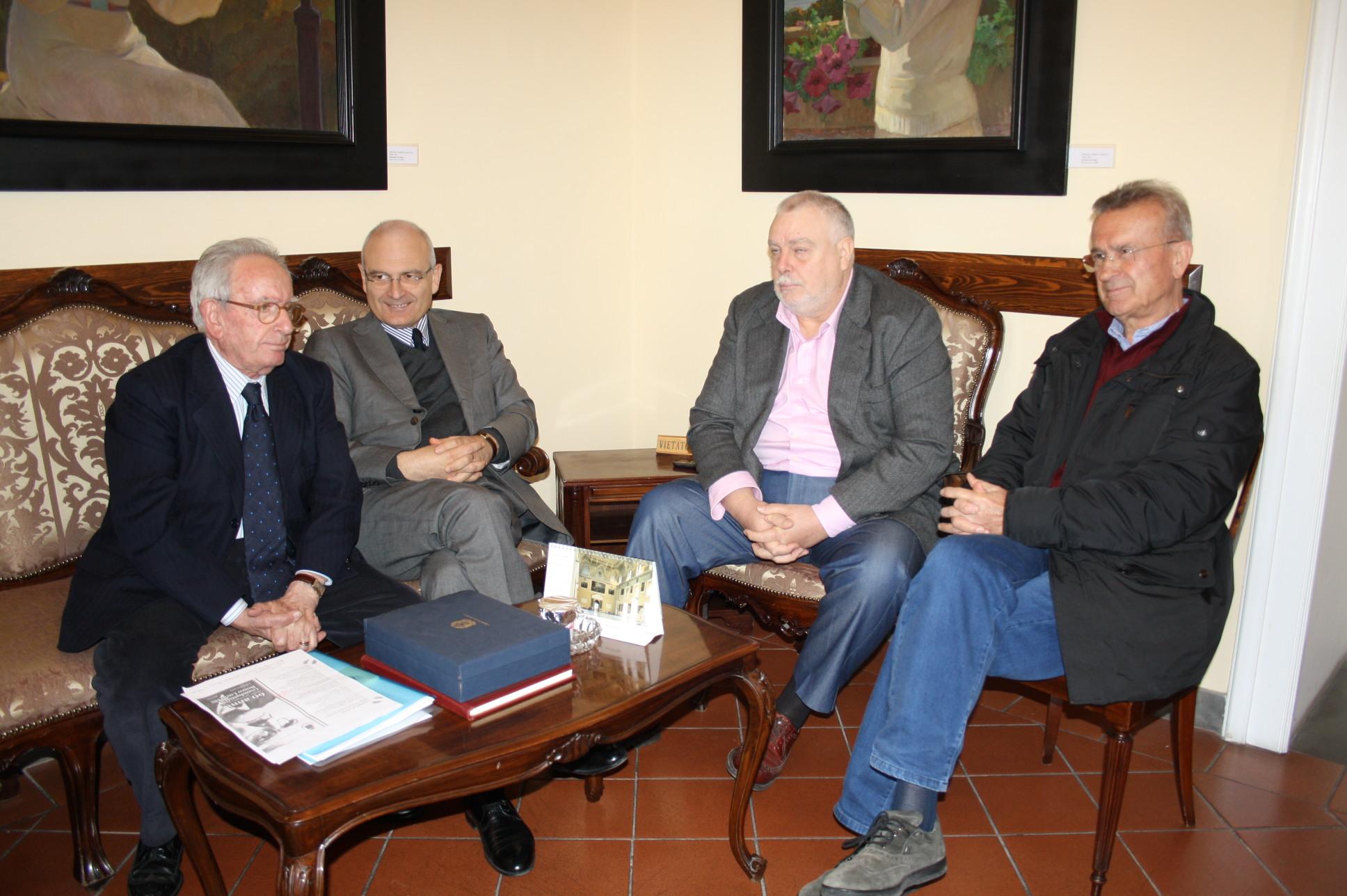 Incontro di Ricci con Mataluni, Costanzo e Pedicini per valutazione su realtà socio-economica-culturale