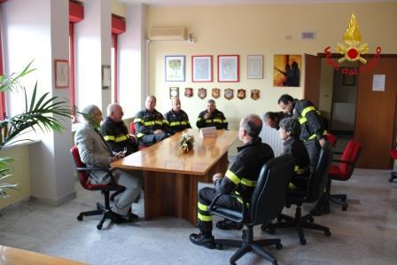 Nanni, nuovo direttore regionale dei Vigili del Fuoco, visita il Comando Provinciale di Benevento