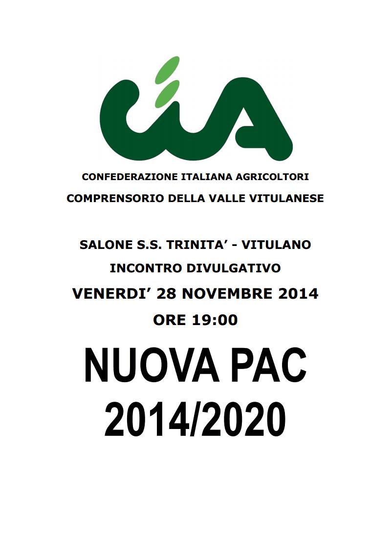 Questa sera a Vitulano incontro informativo su la 'Nuova Pac 2014/2020'