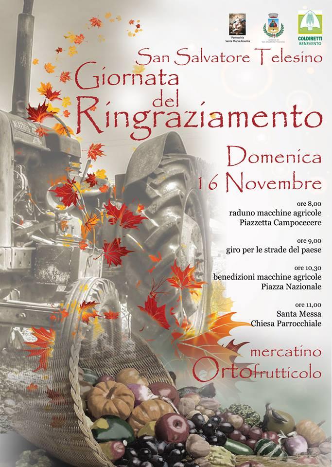 Ritorna, a San Salvatore Telesino, la manifestazione 'Giornata del ringraziamento'
