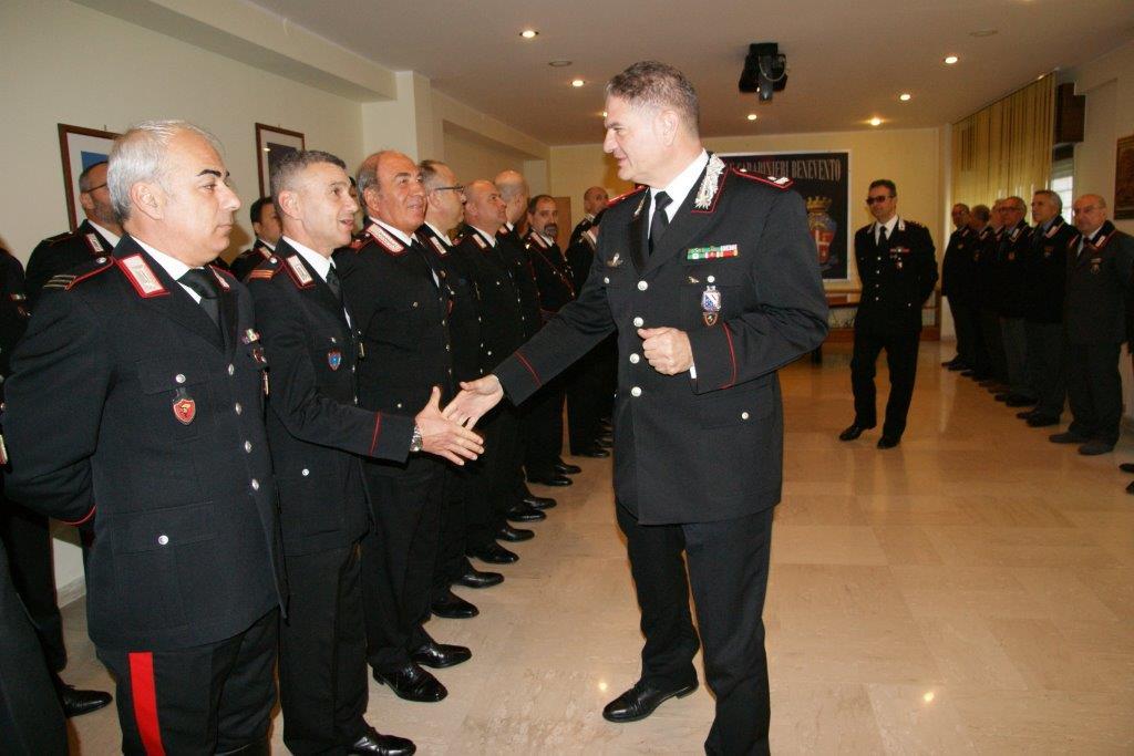 Il Comandante della Legione Carabinieri ' Campania' in visita alla caserma di Benevento