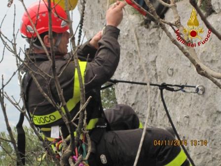 Concluso il corso di formazione per i vigili del fuoco abilitante a soccorrere su corda