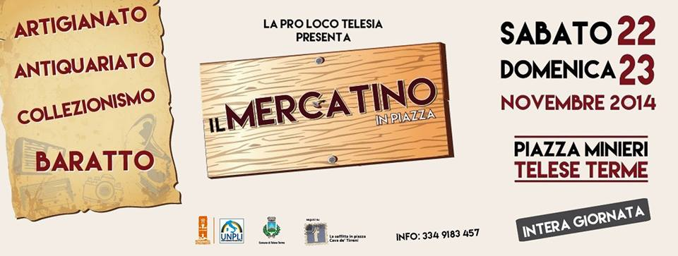 Telese Terme, sabato e domenica è di scena il 'Mercatino in Piazza'