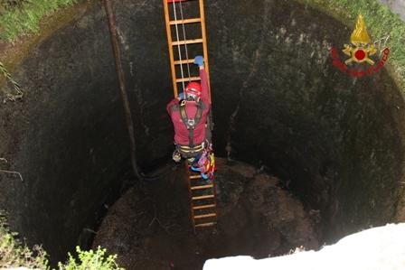 Ritrovato dai Vigili del Fuoco il corpo di un uomo caduto in un pozzo
