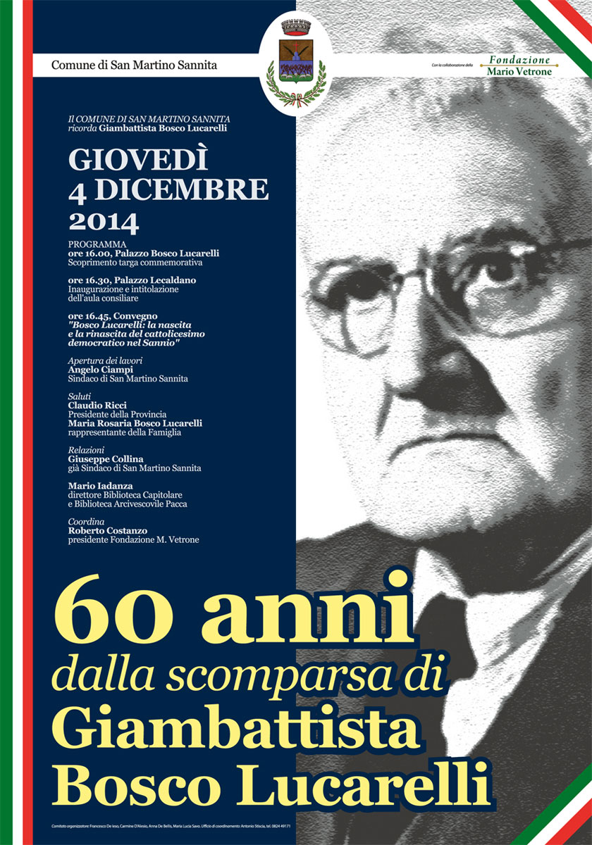 Celebrazioni per i 60 anni dalla scomparsa del padre costituente Bosco Lucarelli