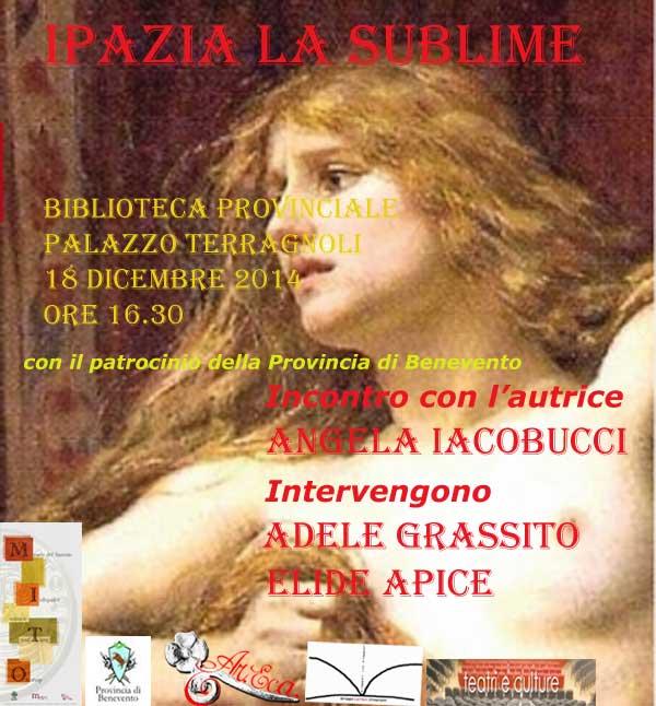 A Palazzo Terragnoli la presentazione del volume 'Ipazia-la Sublime'
