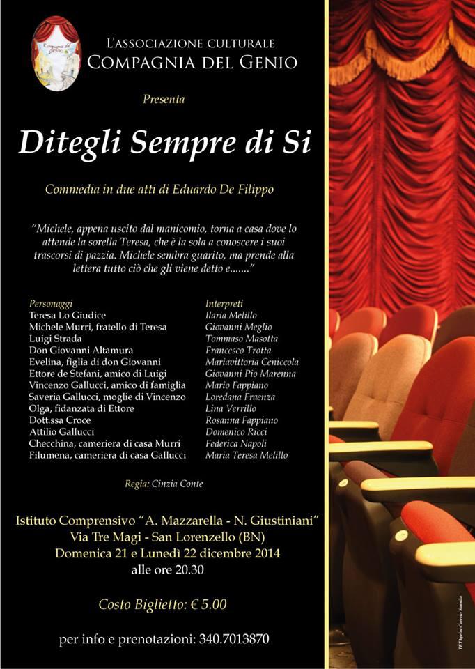 La 'Compagnia del Genio' mette in scena 'Ditegli sempre di si' di Eduardo De Filippo