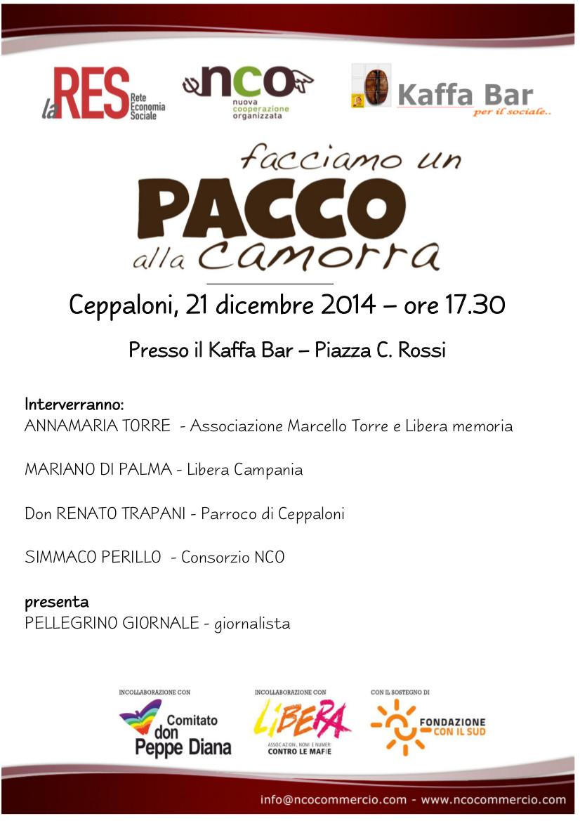 'Facciamo un pacco alla camorra', domenica presentazione a Ceppaloni