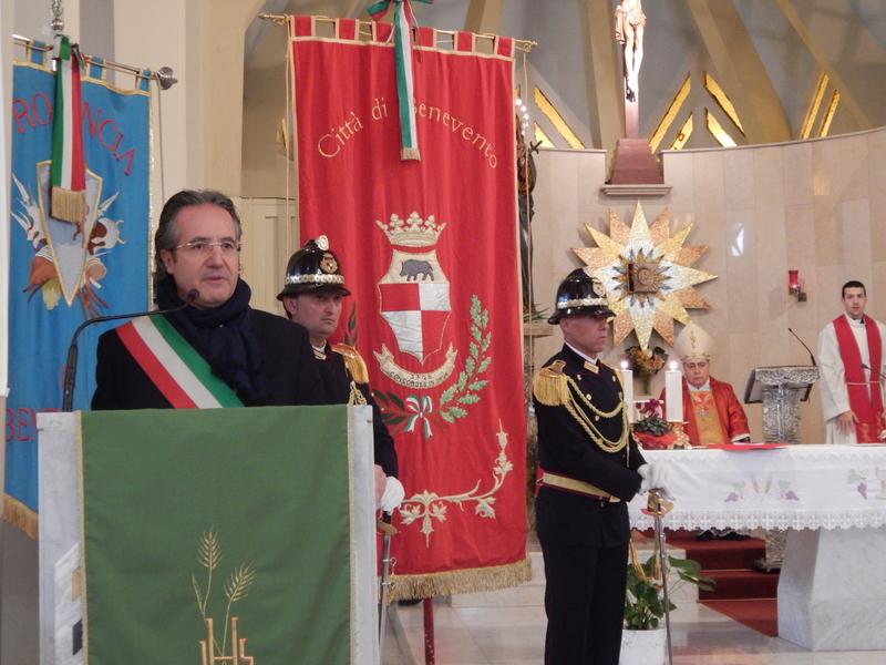 Il Sindaco fa appello al buonsenso dei cittadini nel suo intervento alla celebrazione in onore di san Sebastiano