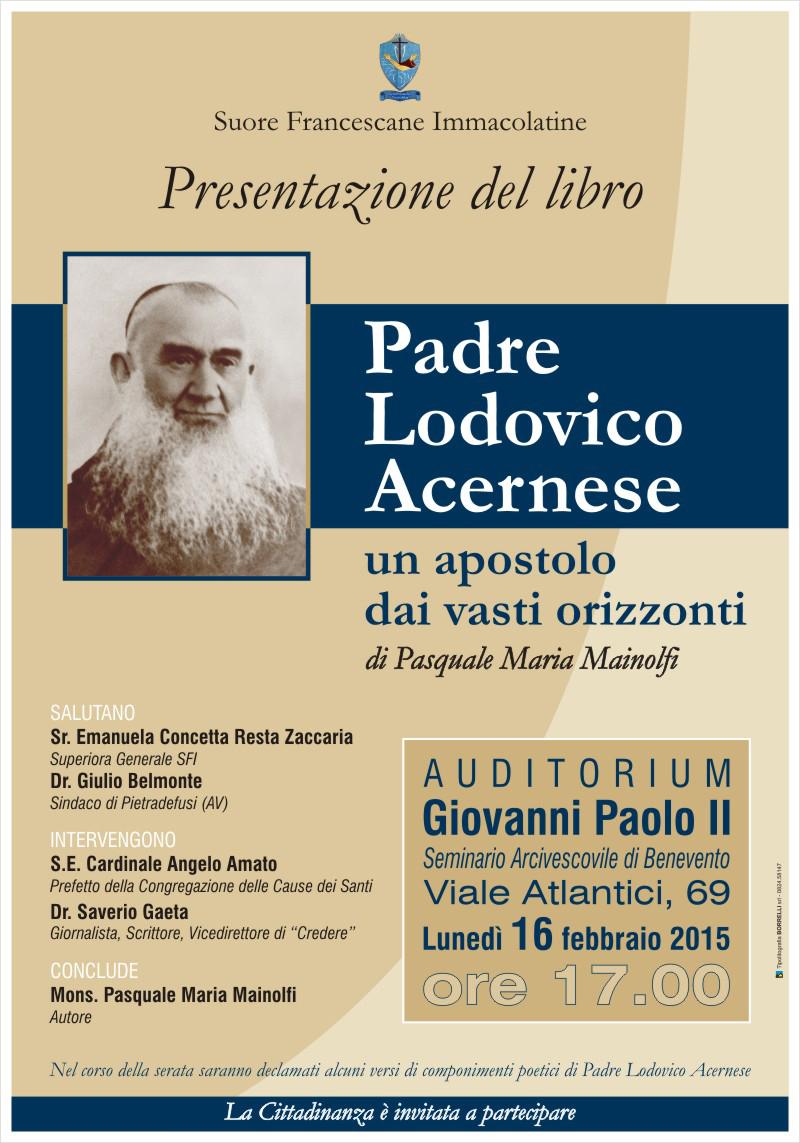Domani la presentazione della biografia sul frate cappuccino Ludovico Acernese