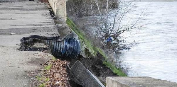 Crollo parziale argine del fiume Sabato, incontro in Prefettura per la messa in sicurezza