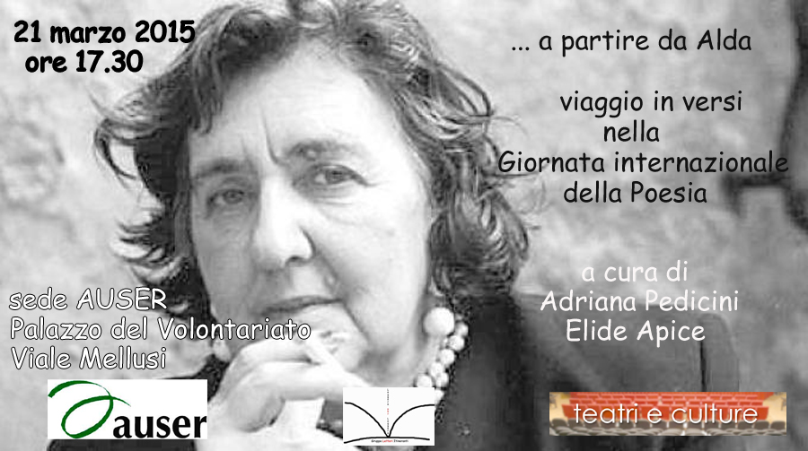 Auser di Benevento partecipa alla 'Giornata mondiale della Poesia' indetta dall'Unesco