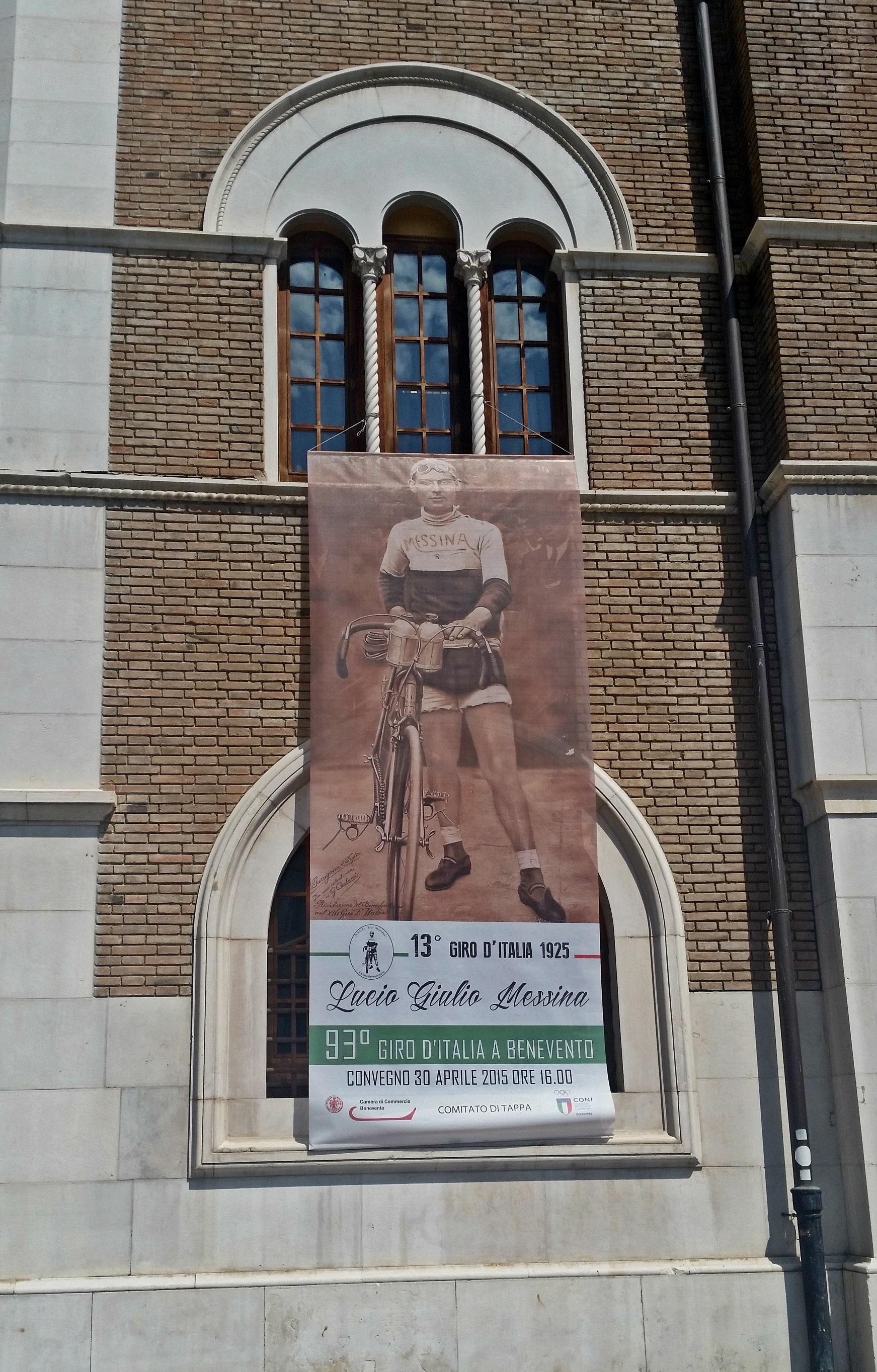 La Camera di Commercio celebra Giulio Messina, unico sannita ad aver partecipato al Giro d'Italia