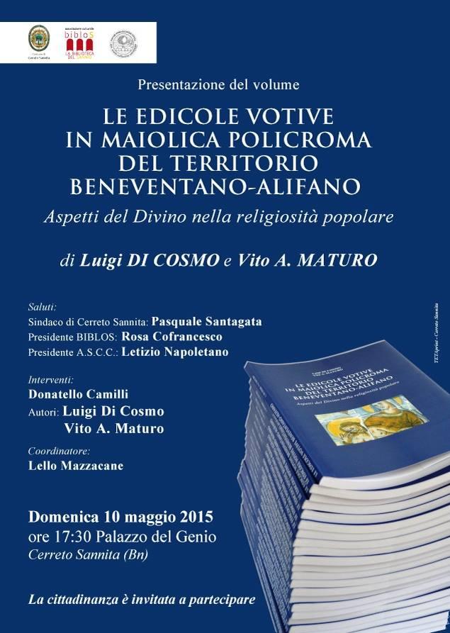 Presentazione di 'Le edicole votive in maiolica policroma del territorio beneventano-alifano' a Cerreto Sannita
