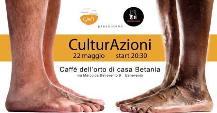 Nuovo appuntamento con 'CulturAzioni' venerdì 22 maggio presso il Caffè dell'Orto di Casa Betania