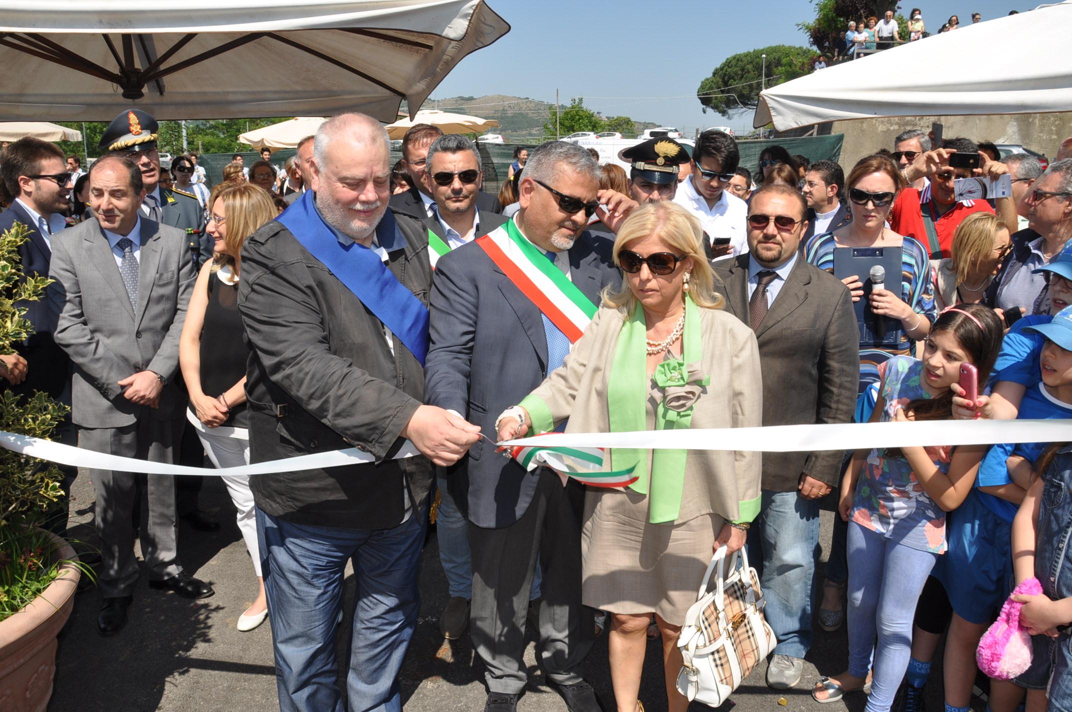 Inaugurazione del campo sportivo polivalente di Bucciano alla presenza del Presidente Ricci