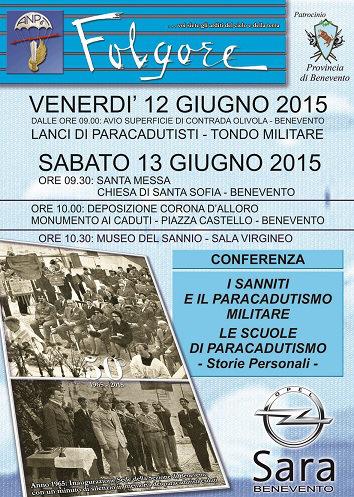 Festeggiamenti per il 50° anno di fondazione dell'Associazione dei paracadutisti