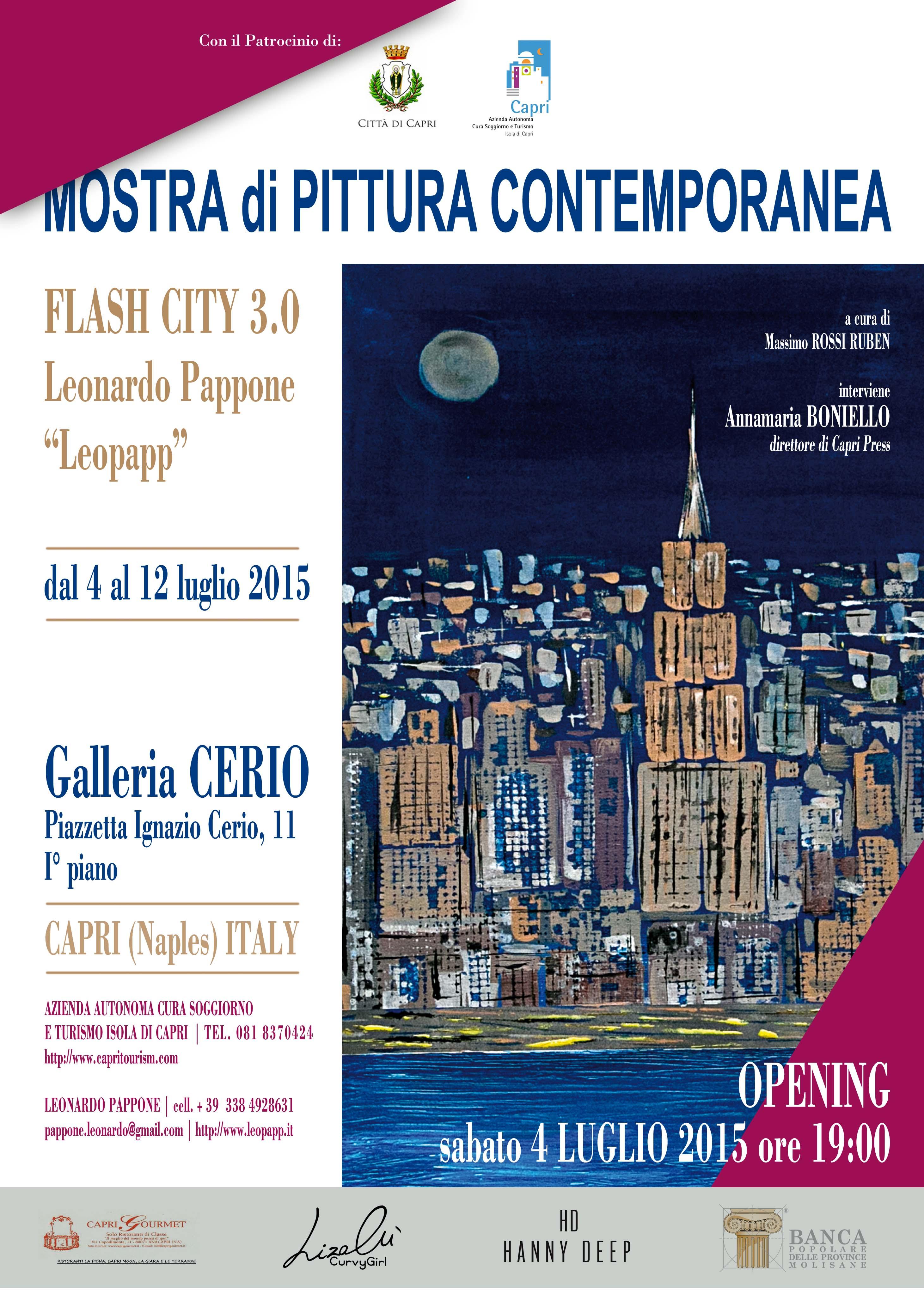 L'artista sannita Leonardo Pappone espone le sue opere a Capri