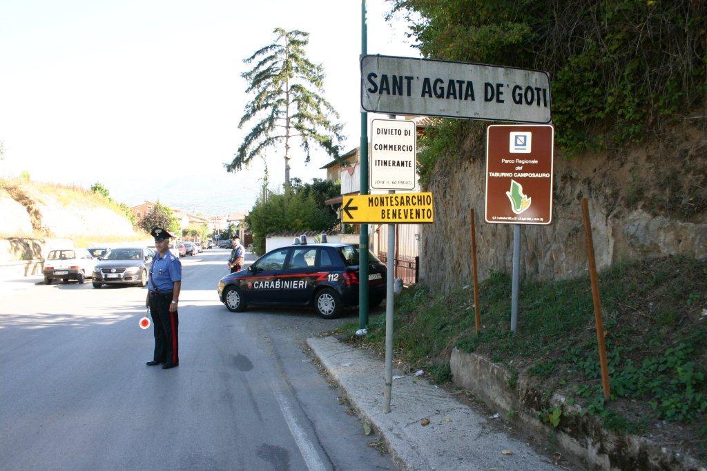 Sant'Agata de' Goti, movimentato arresto per le vie del centro di un pregiudicato