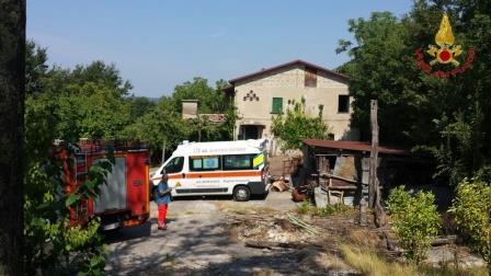 Intervento dei Vigili del Fuoco a Faicchio, ritrovato corpo senza vita di anziano