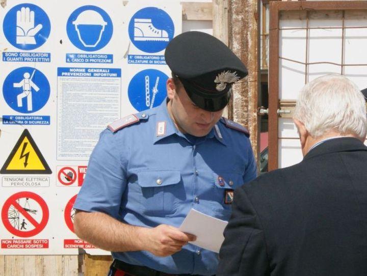 Denunciata dai Carabinieri una ditta edile per violazioni alla normativa sul lavoro